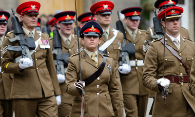 Ceremonial parade suit military cap